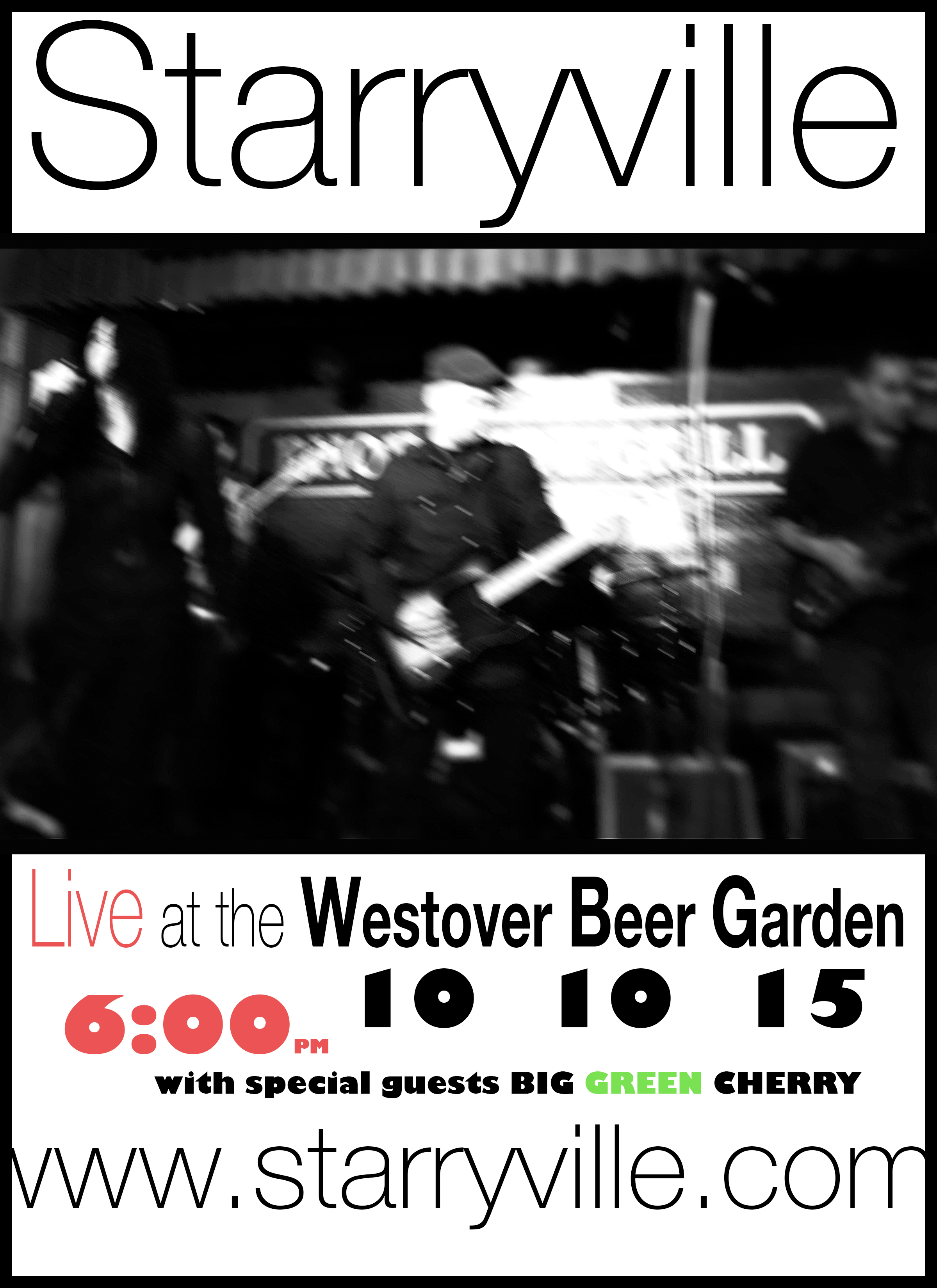 Westover market poster, gig of Oct 10 2015